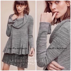Anthropologie {Postmark) waffle knit cowl neck top